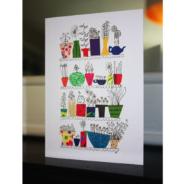 Pots – Greeting Card